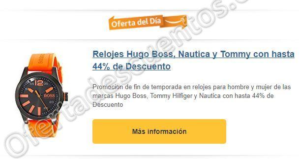 Amazon: Hasta 44% de Descuento en Relojes Hugo Boss, Tommy Hilfiger y Nautica