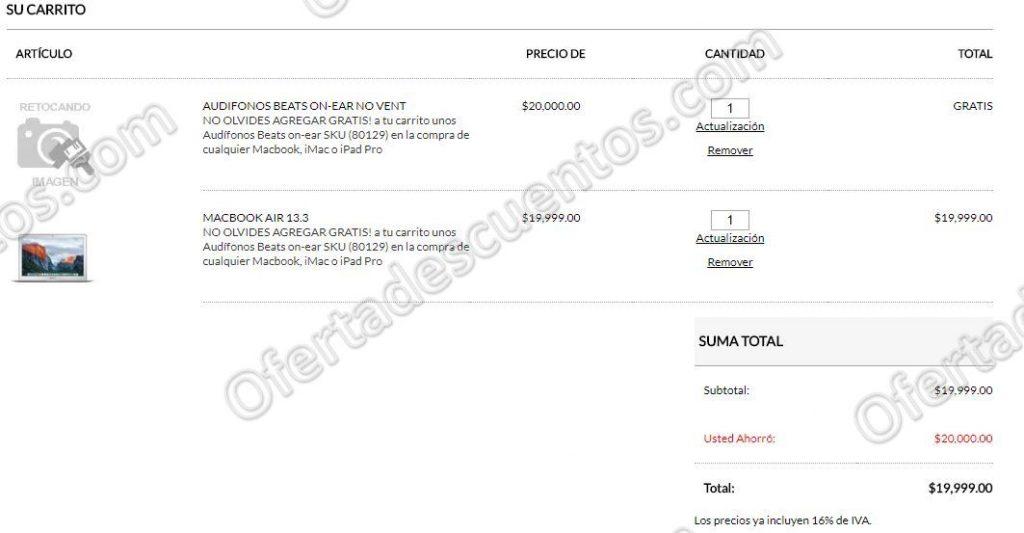Office Depot: Audífonos Beats on-ear de Regalo al Comprar Macbook, iMac o iPad Pro