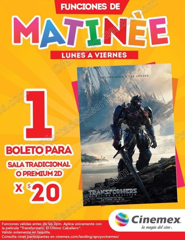 Cinemex: Boleto a $20 Funciones Matinée de Lunes a Viernes para Transformers y Mi Villano Favorito 3