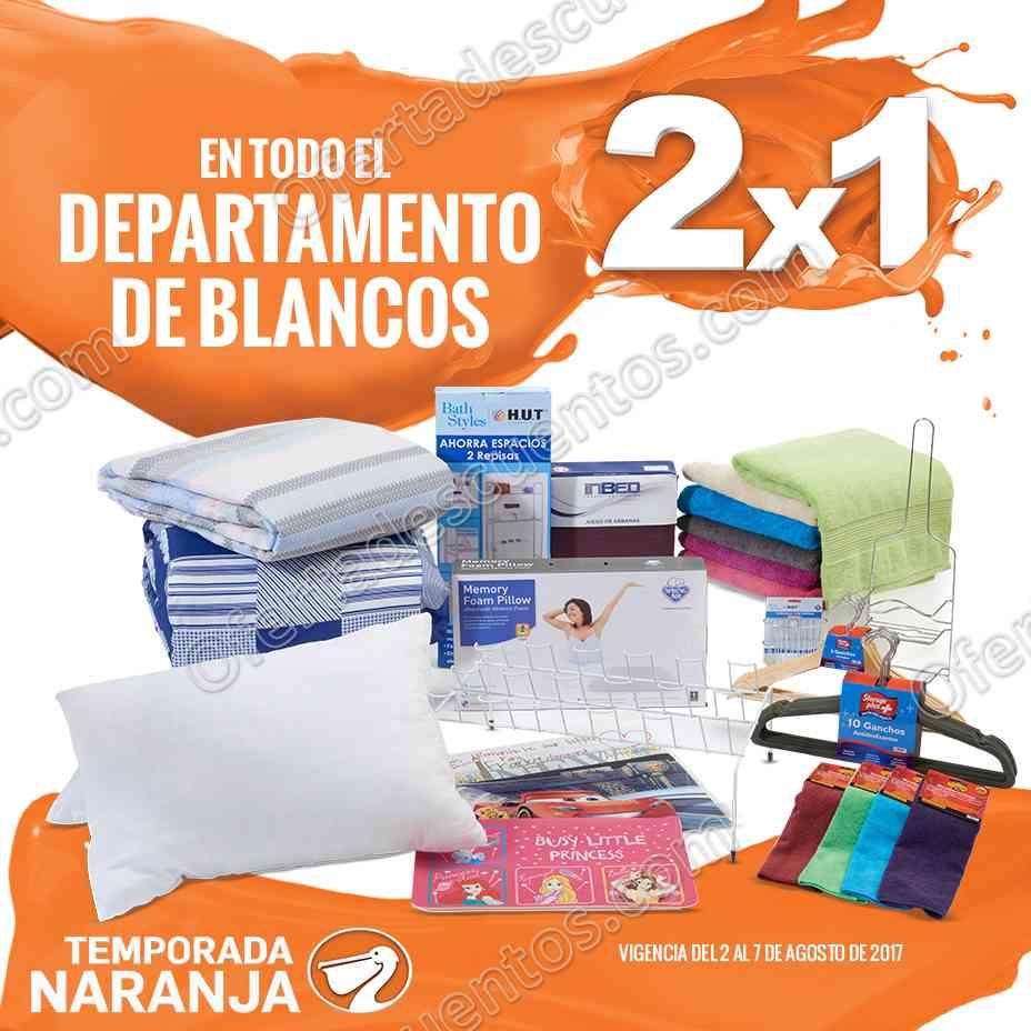 Temporada Naranja La Comer 2017: 2×1 en Departamento de Blancos del 2 al 7 de Agosto