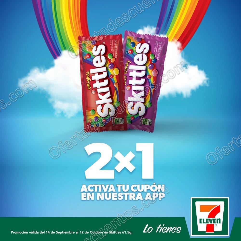 7Eleven: 2×1 en Skittles del 14 de Septiembre al 12 de Octubre 2017
