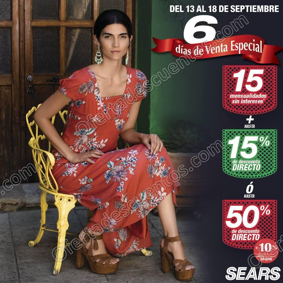 6 Días de Venta Especial Sears del 13 al 18 de Septiembre 2017