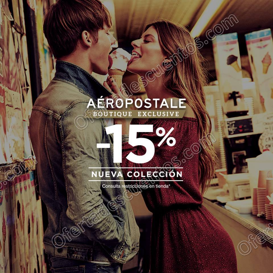 Aéropostale: 15% de descuento en Nueva Colección al 13 de Septiembre 2017