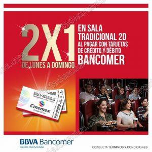 Cinemex: Entradas al 2×1 de Lunes a Domingo con Bancomer