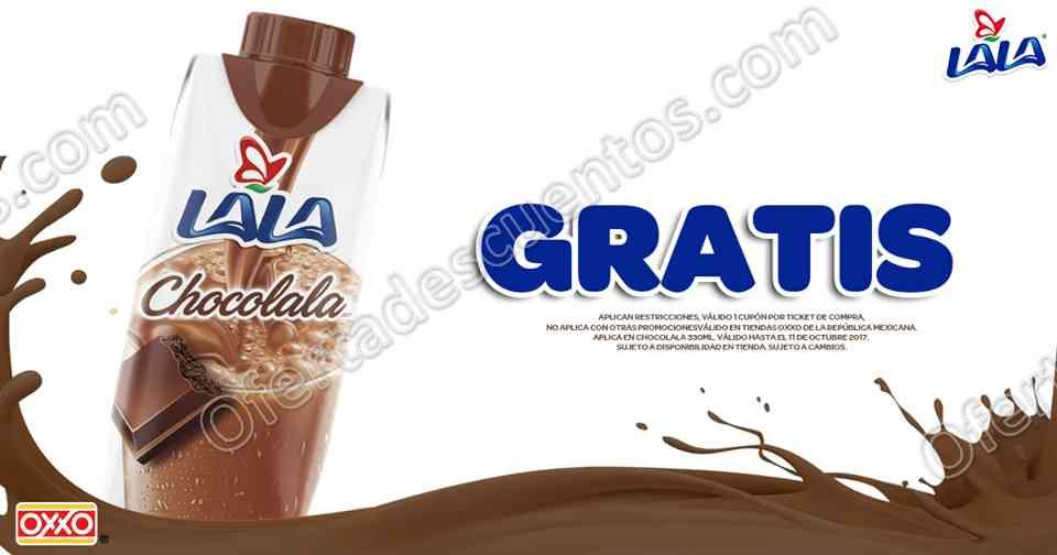 Oxxo: Cupón Chocolala 330 ml Gratis