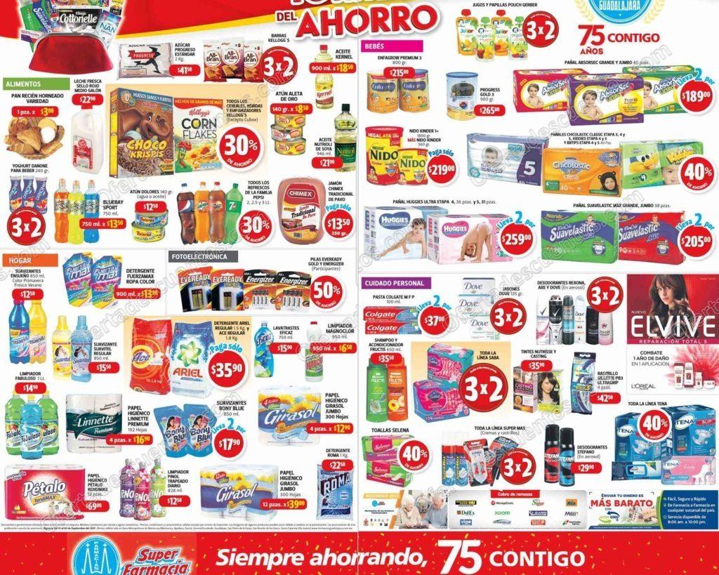 Farmacias Guadalajara: Torres del Ahorro Fin de Semana del 1 al 3 de Septiembre 2017