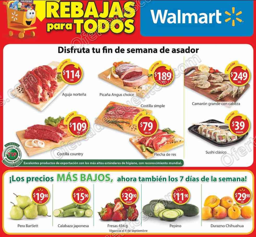 Walmart: Fin de Semana de Asador del 1 al 3 de Septiembre 2017