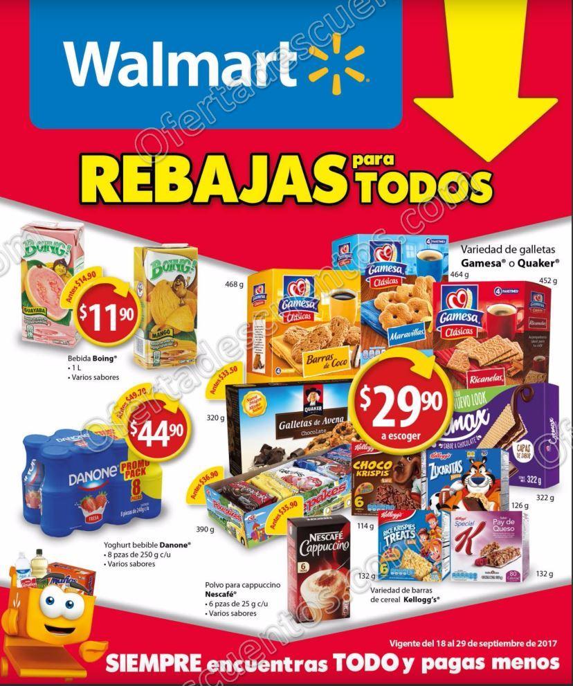 Walmart: Folleto de Ofertas del 18 al 29 de Septiembre 2017