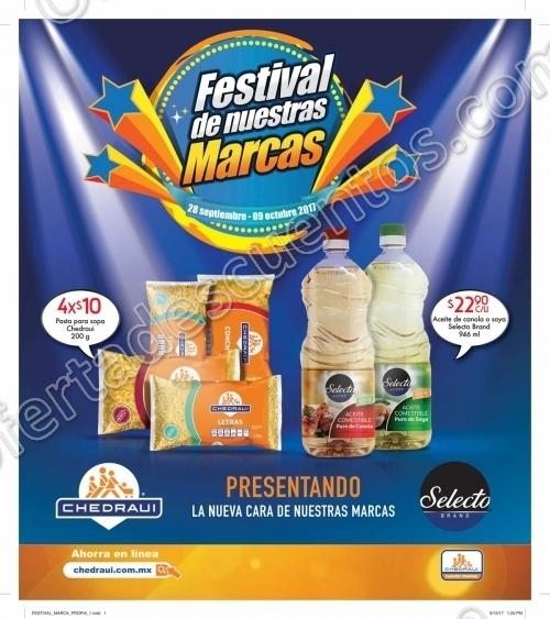 """Chedraui: Folleto de Ofertas """"Festival de las Marcas"""" del 28 de Septiembre al 9 de Octubre"""
