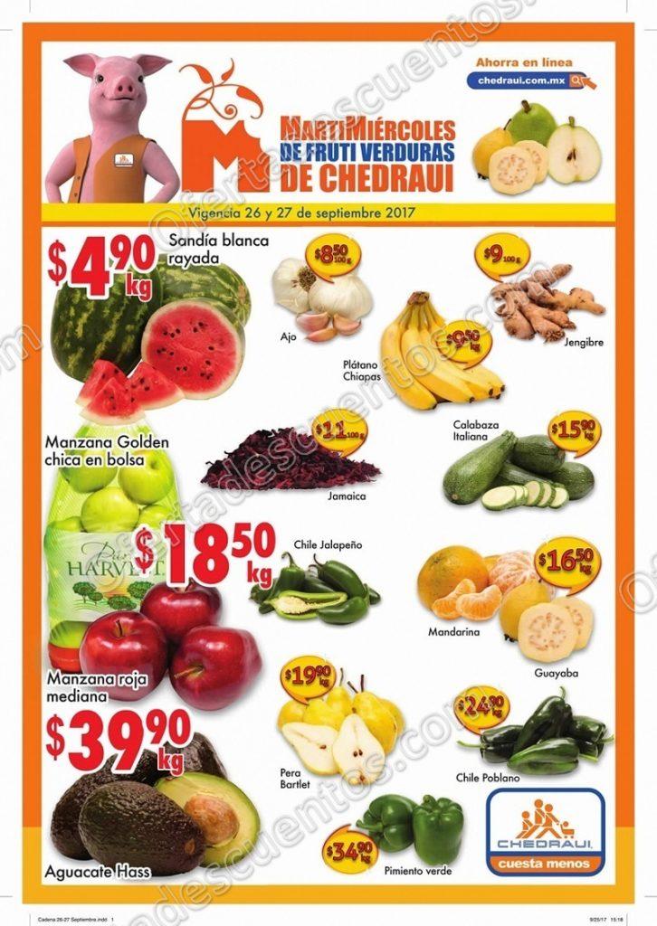 Frutas y Verduras Chedraui 26 y 27 de Septiembre 2017