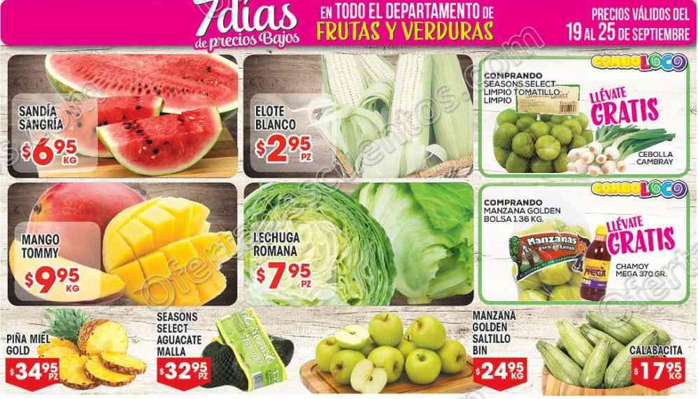 Frutas y Verduras HEB 19 25 septiembre
