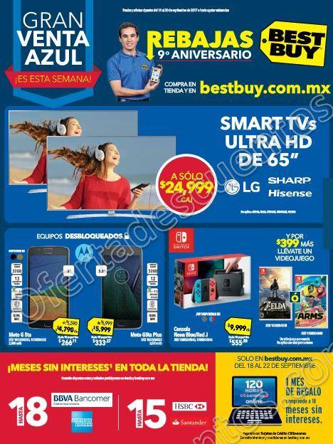 Best Buy: Ofertas Gran Venta Azul 9° Aniversario del 14 al 20 de Septiembre 2017