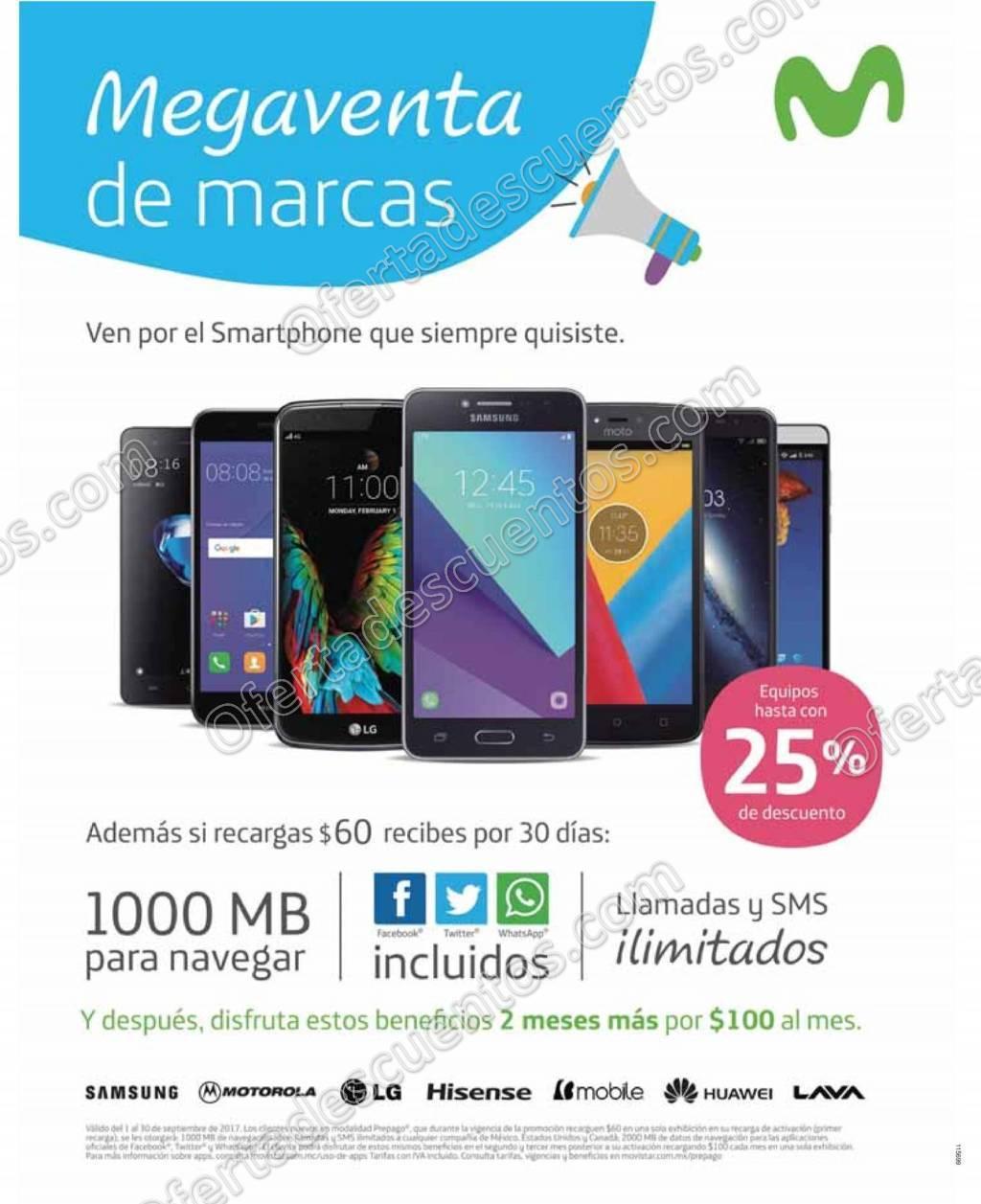 Movistar: Mega Venta de Marcas Hasta 25% de descuento en celulares al 30 de Septiembre