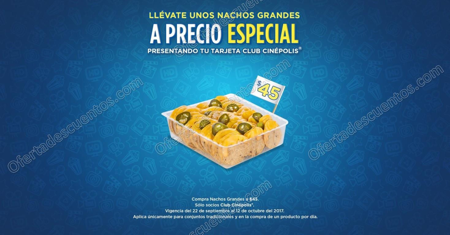 Cinépolis: Nachos Grandes o Bagui Pollo Pesto a $45 y más con Tarjeta Club Cinépolis
