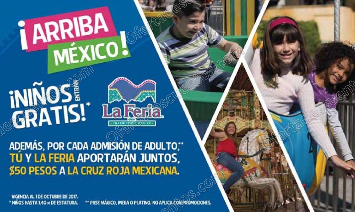 La Feria de Chapultepec: Niños Entran Gratis hasta el 1 de Octubre 2017