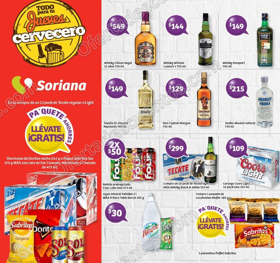 Soriana: Ofertas Jueves Cervecero 21 de Septiembre 2017