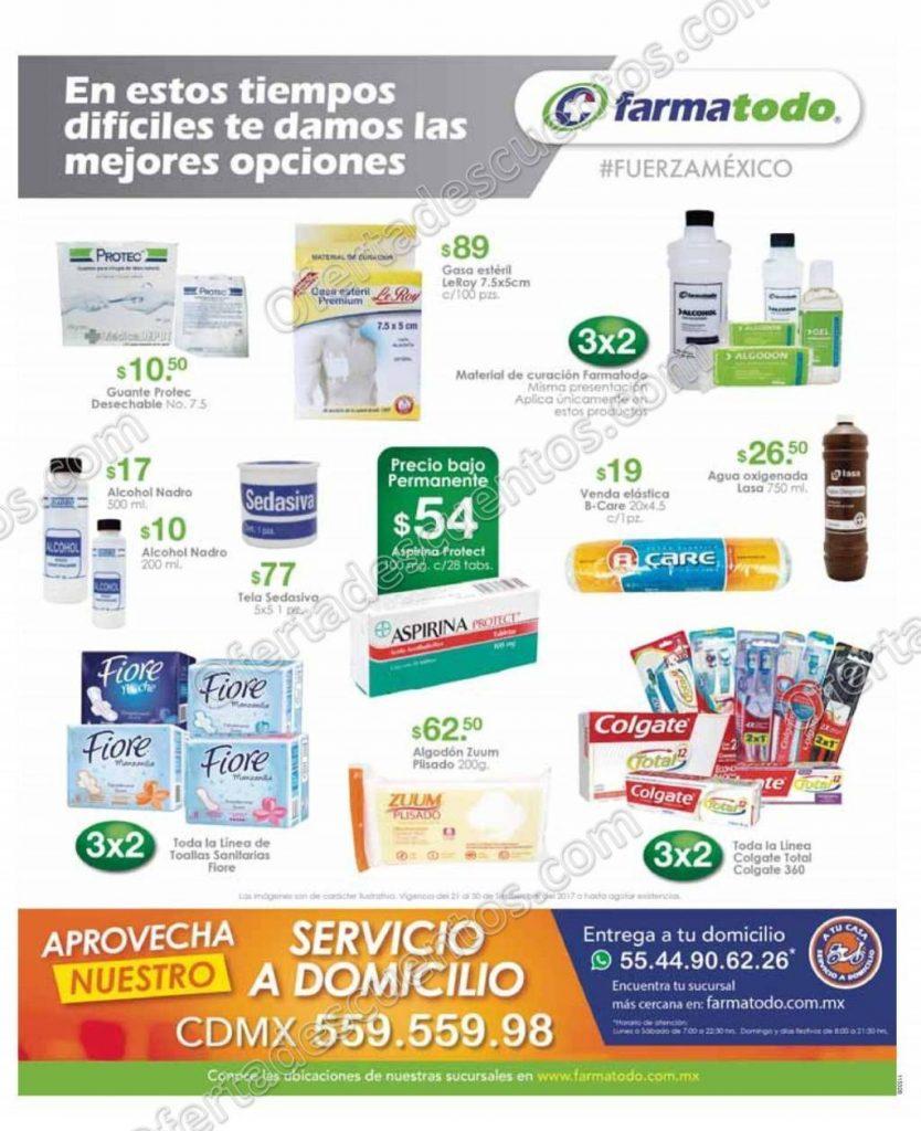 Farmatodo: 3×2 en material de curación y más al 30 de Septiembre 2017