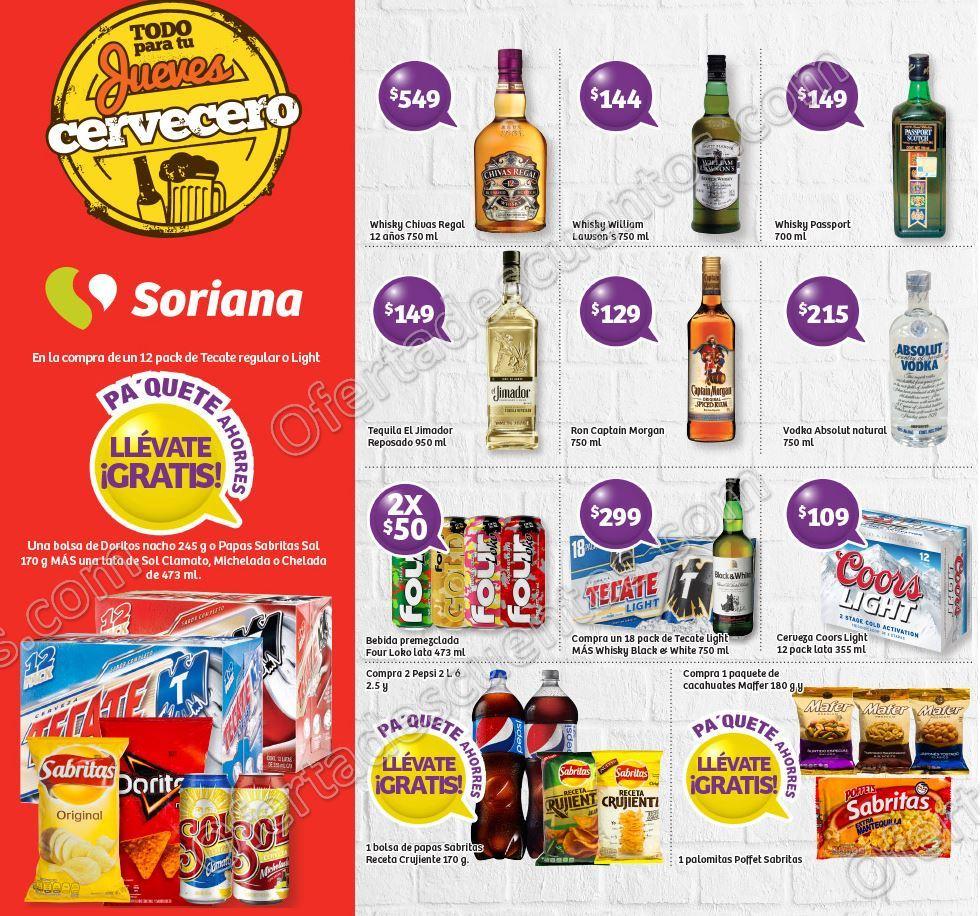 Ofertas en Vinos y Licores Jueves Cervecero Soriana 7 de Septiembre