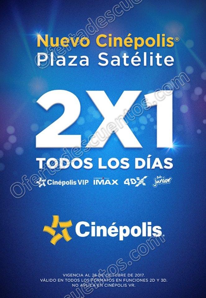 Cinépolis: 2×1 en todas las salas IMAX, 4DX, Junior, Vip y Tradicional todos los días al 26 de Octubre