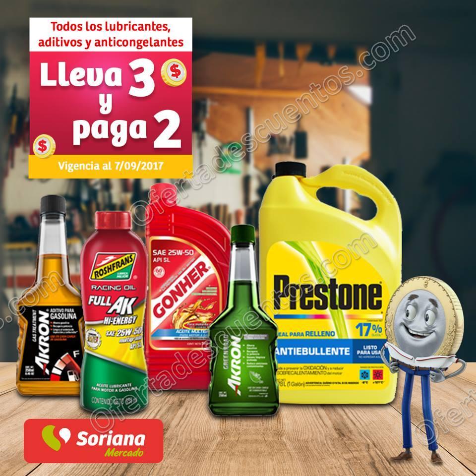 Soriana Mercado: 3×2 en lubricantes, aditivos y anticongelantes