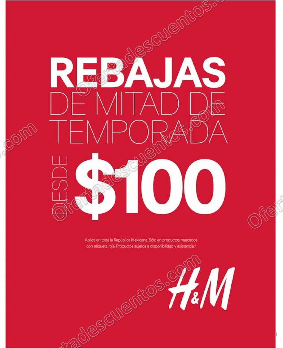 H&M: Rebajas de Mitad de Temporada Prendas desde $100 Pesos