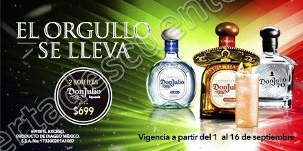 Superama: 2 Botellas Don Julio por $699 del 1 al 16 de Septiembre 2017