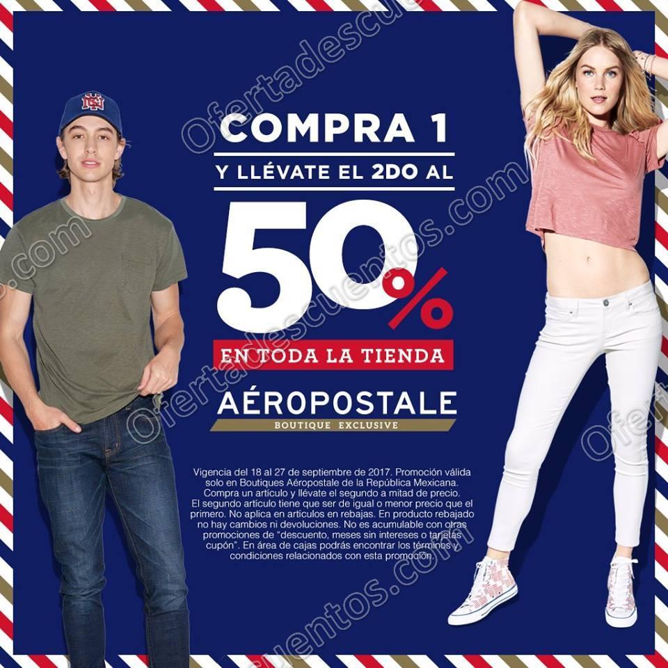 Aeropostale: 50% de Descuento en Segunda Compra