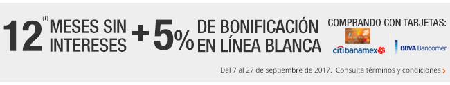 The Home Depot: Envío gratis en Línea Blanca y 5% de bonificación con Banamex y Bancomer