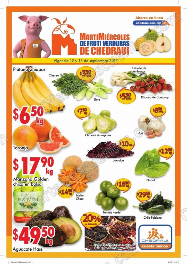 Frutas y Verduras Chedraui 12 y 13 de Septiembre 2017