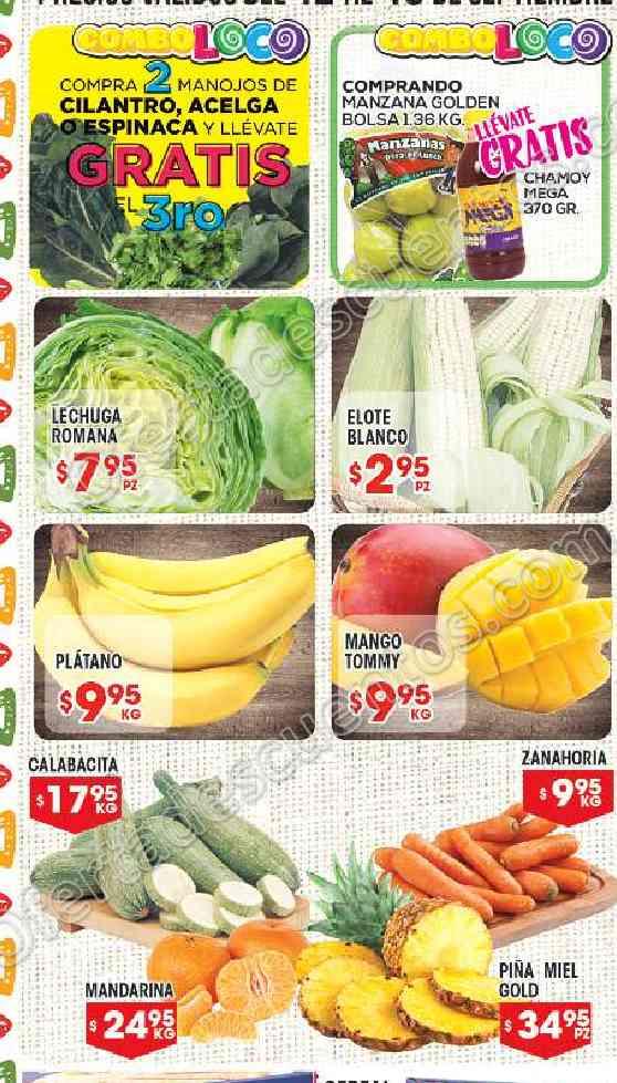 Frutas y Verduras HEB del 12 al 18 de Septiembre 2017