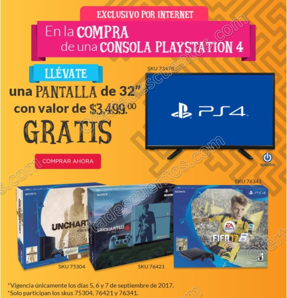 Office Depot: Pantalla Gratis 32″ al Comprar PS4