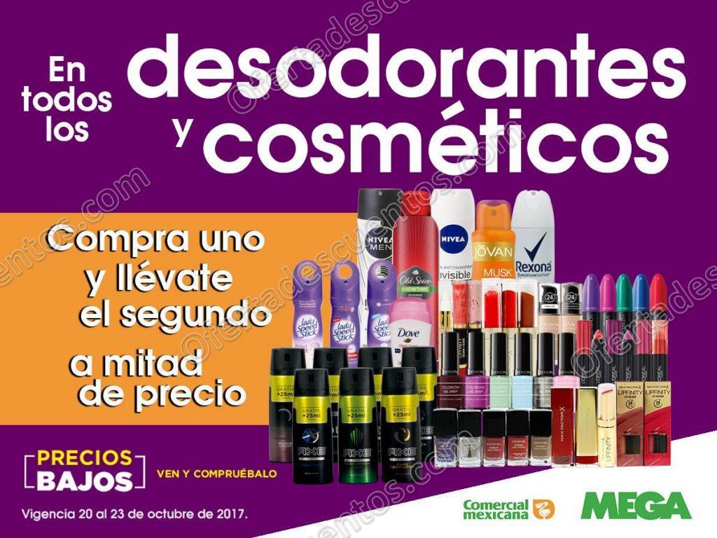 Comercial Mexicana: 50% de descuento en Desodorantes y Cosméticos en segunda compra y más