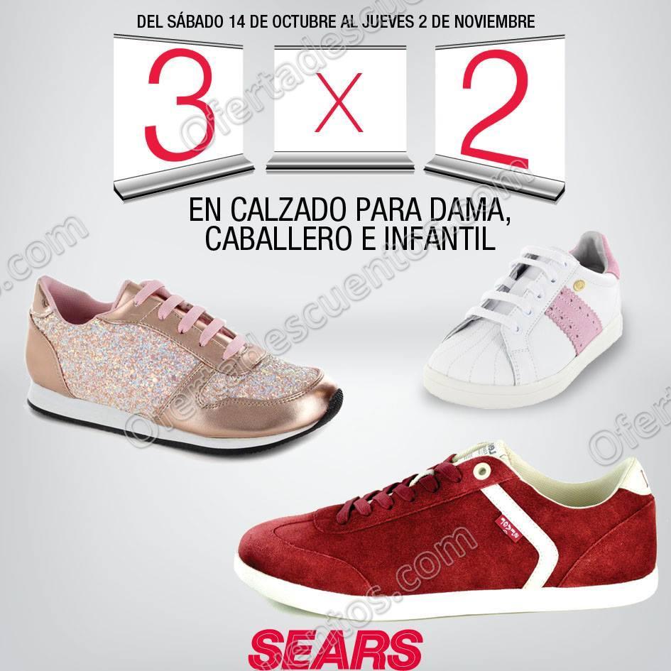 Sears: 3×2 en todo el calzado para Dama, Caballero e Infantiles y más