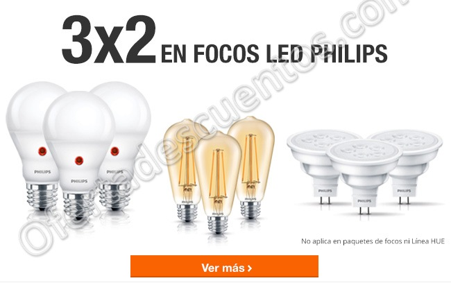 The Home Depot: Expo Ilumina 3×2 en Focos Led Philips