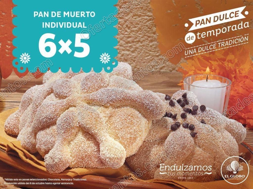 El Globo: 6×5 en Pan de muerto individual
