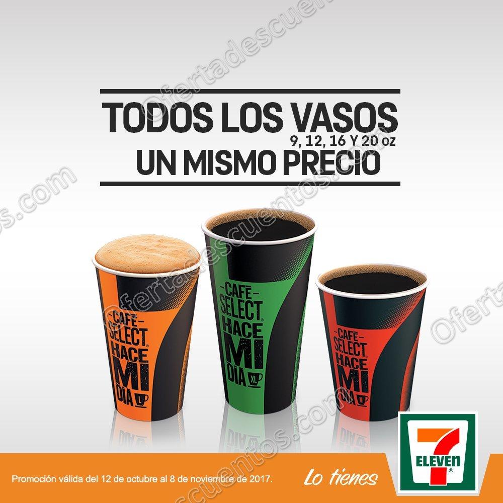 7Eleven: Todos los vasos de Café Select a un mismo precio 9, 12, 16, y 20 oz