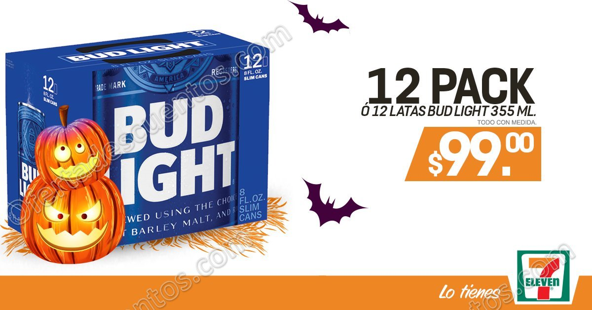 7Eleven: 12 Pack o 12 Latas de Bud Light por $99