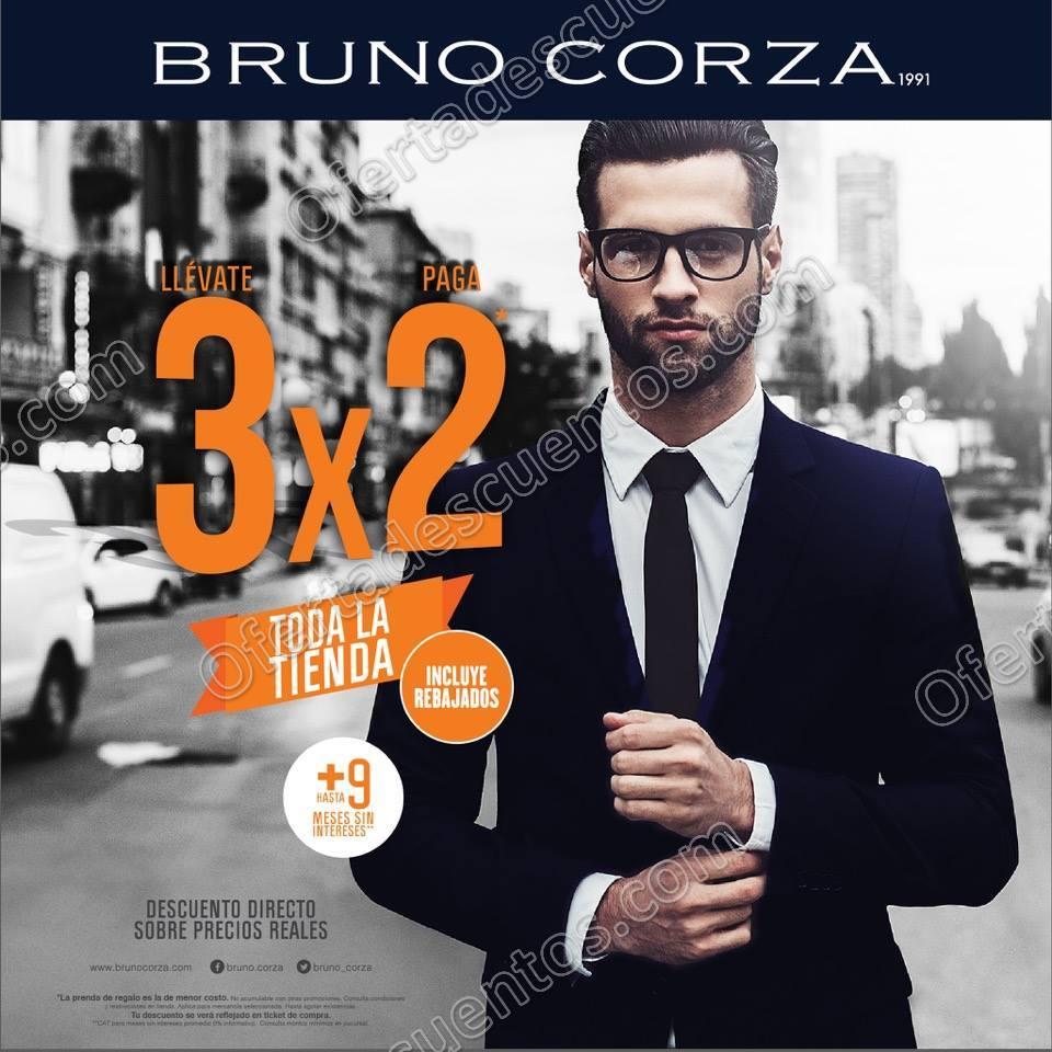 Bruno Corza: 3×2 en toda la tienda más hasta 9 meses sin intereses Octubre 2017