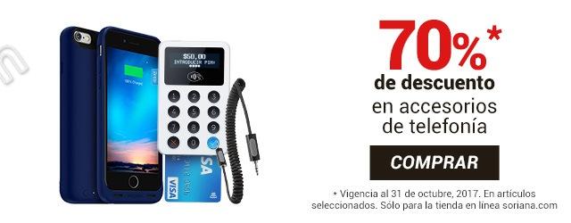 Soriana: 70% de descuento en Accesorios para Celular y más