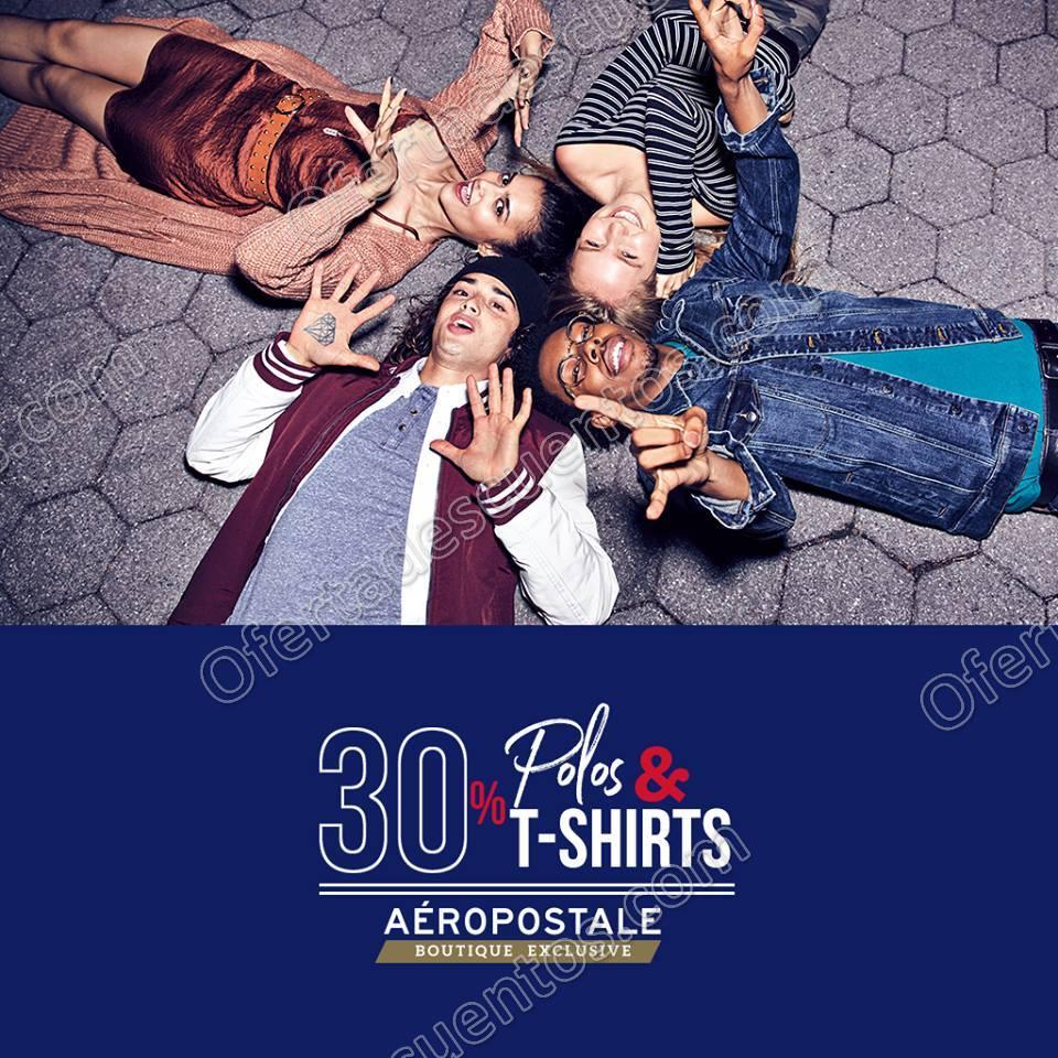Aéropostale: 30% de descuento en Polos, T-Shirts y más al 12 de Noviembre