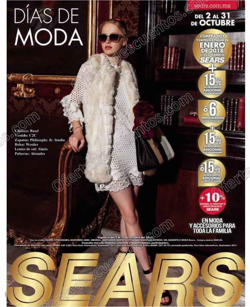 Días de Moda Sears 2017 del 2 al 31 de Octubre