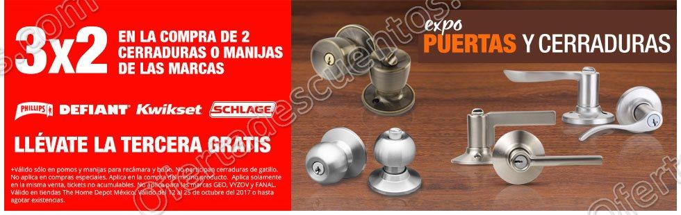 The Home Depot: Expo Puertas y Cerraduras 3×2 en Cerraduras o Manijas