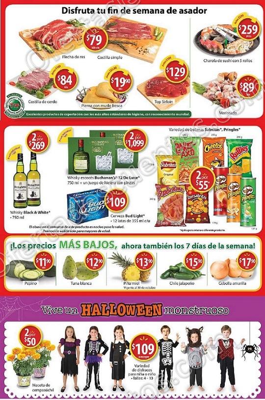 Walmart: Promociones de Halloween, Carnes Frutas y Verduras al 29 de Octubre