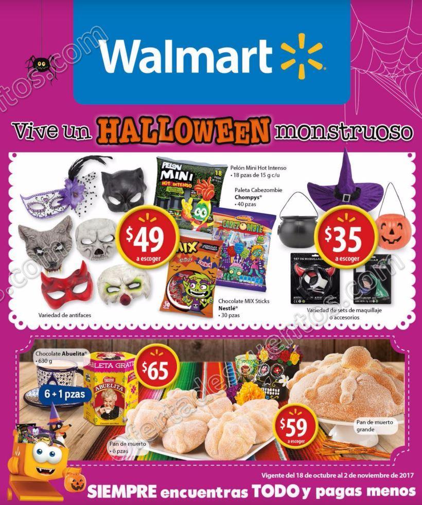 Walmart: Folleto de Ofertas del 18 de Octubre al 2 de Noviembre 2017