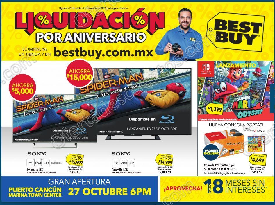 Best Buy: Liquidaciones de Aniversario Ofertas del 19 de Octubre al 1 de Noviembre 2017