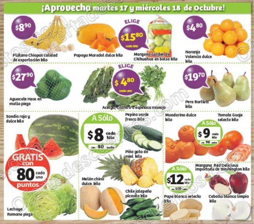 Frutas y Verduras Soriana 17 y 18 de Octubre 2017
