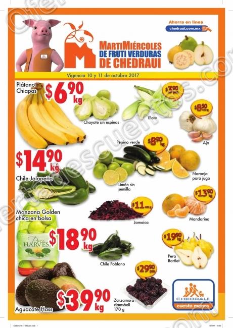 Frutas y Verduras Chedraui 10 y 11 de Octubre 2017