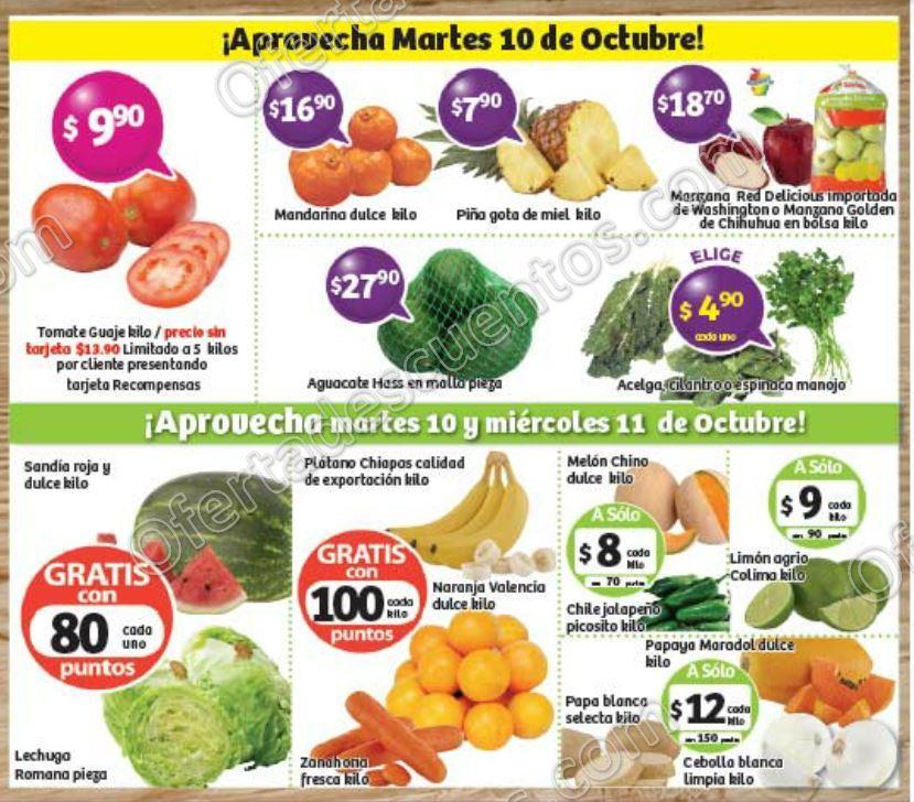 Frutas y Verduras Soriana 10 y 11 de Octubre 2017