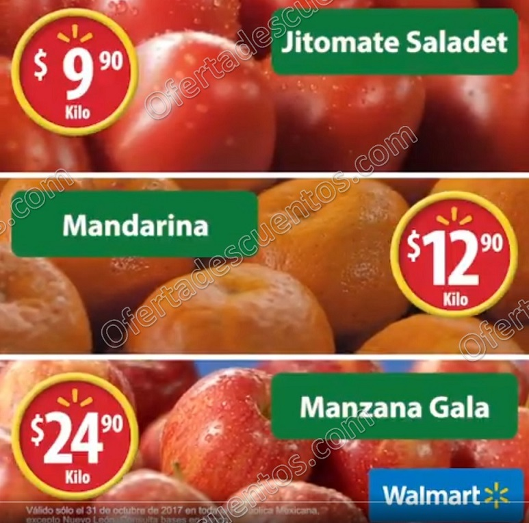 Martes de Frescura Walmart 31 de Octubre 2017