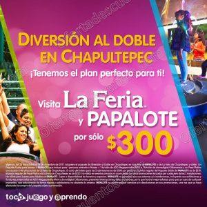 Diversión al doble entrada a la Feria de Chapultepec y El Papalote por $300